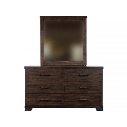 Dawson Six Drawer Chest with Mirror